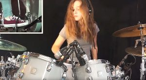 "17 Year Old Girl Channels That Fleetwood Mac Magic For Killer ""Go Your Own Way"" Drum Cover"