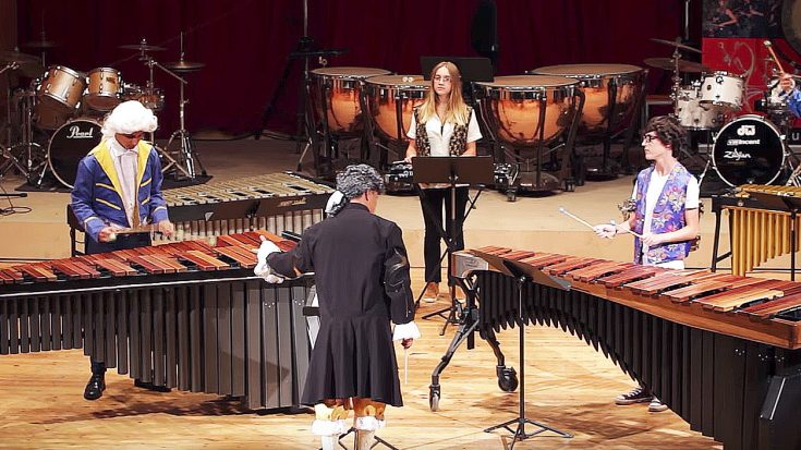 """Music Students Come Together To Perform A Xylophone Cover Of """"Thunderstruck"""" …Prepare Yourself 