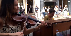 Spontaneous Piano and Violin Duet Stops People In Their Tracks And Will Blow You Away