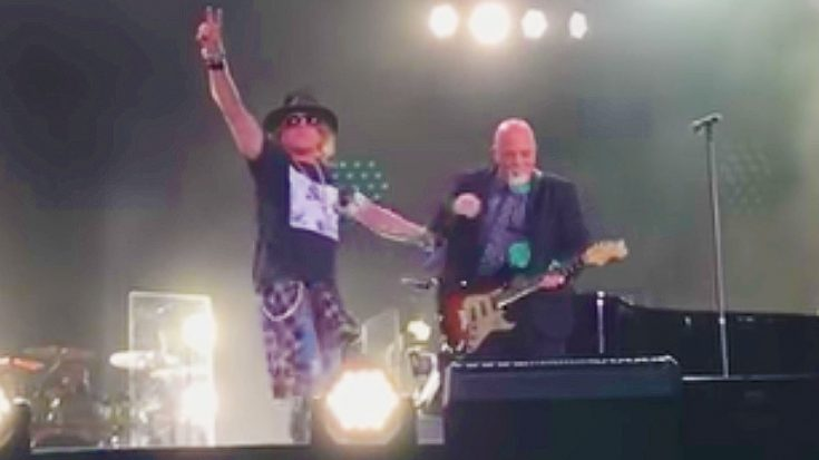 Billy Joel Surprises Fans & Invites Axl Rose On Stage For Fiery AC/DC 'Highway to Hell' Tribute! | Society Of Rock Videos