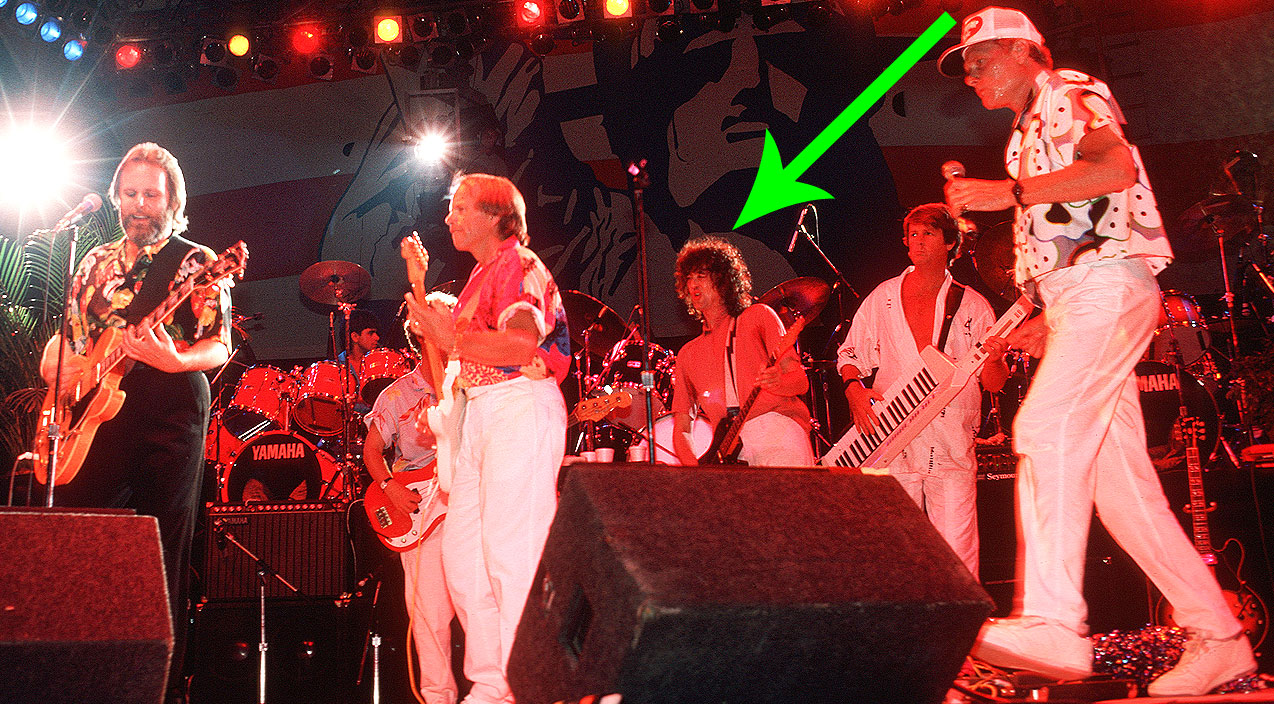 1985 the beach boys amp jimmy page bring the fireworks on