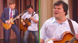 Conan & Jack Black Engage In A Guitar Duel, & Are Interrupted By The Surprise Of A Lifetime!