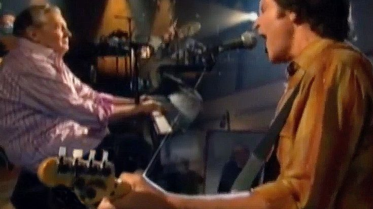 "Flashback To When John Fogerty And Jerry Lee Lewis Covered ""Good Golly Miss Molly"" And Tore. It. UP! 