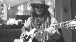 Johnny Depp Hangs Out With Alice Cooper, & Shows Off Guitar Skills By Shredding Blistering Solo!