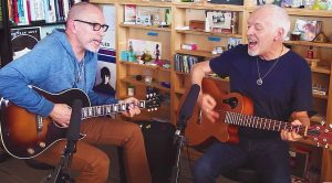 Peter Frampton Visits Office, and Surprises Everyone With A Rousing Acoustic Cover of This Classic Hit!