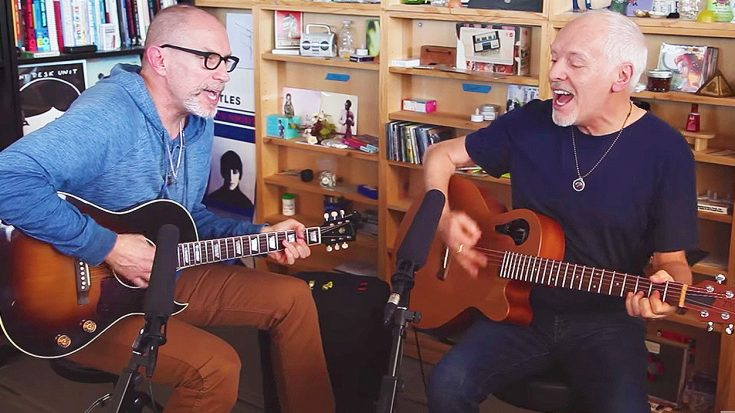 Peter Frampton Visits Office, and Surprises Everyone With A Rousing Acoustic Cover of This Classic Hit! | Society Of Rock Videos