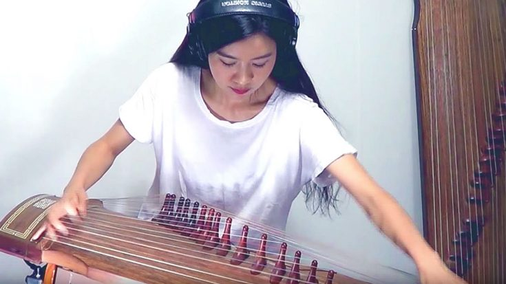 "This Girl Positively Slays AC/DC's ""Back In Black"" On The Coolest Instrument You'll Ever See 