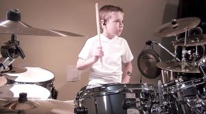 "7-Year-Old Kid Attempts To Cover ""Come Together"" On Drums – Only To End Up Perfecting It"