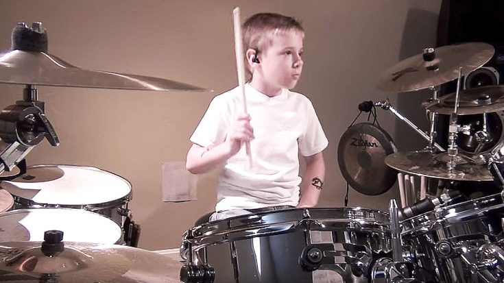 "7-Year-Old Kid Attempts To Cover ""Come Together"" On Drums – Only To End Up Perfecting It 