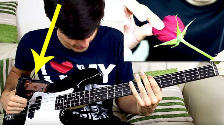 This Bass Player Just Played Guns N' Roses With A Gun And A Rose And It's Too Good For Words!   Society Of Rock Videos