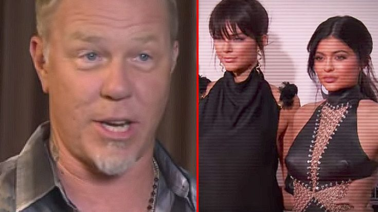 In Just 1 Word, James Hetfield Slams Jenner Girls For Defacing Metallica T-Shirts With Their Nonsense | Society Of Rock Videos