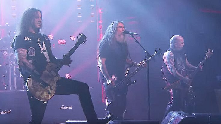 In Case You Missed It, Slayer Crashed Jimmy Fallon's Show Last Night And Tore The Damn House Down   Society Of Rock Videos
