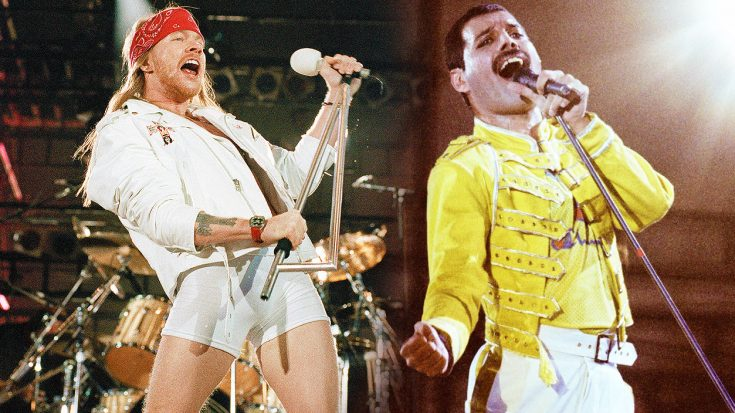 Axl Rose Joins Queen On Stage For High Octane Tribute To Freddie Mercury With 'We Will Rock You' Cover! | Society Of Rock Videos