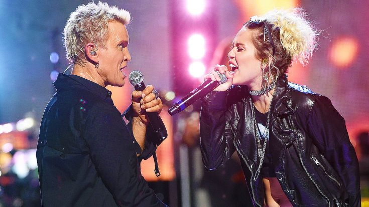 Miley Cyrus Joined Billy Idol On Stage For 'Rebel Yell' Duet, & It Turned Out Surprisingly Awesome!