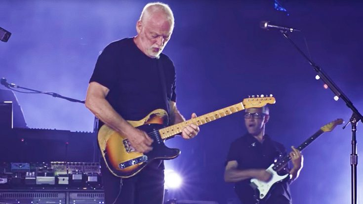 David Gilmour Celebrates Triumphant Return to Pompeii With Dazzling Performance of 'Rattle That Lock' | Society Of Rock Videos