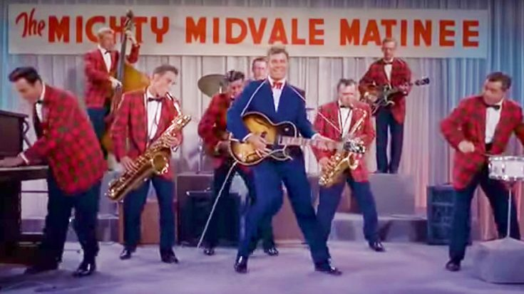 59 Years Ago, Jerry Lewis Hilariously Parodies Rock Music In This Memorable Scene of 'Rock-A-Bye-Baby'