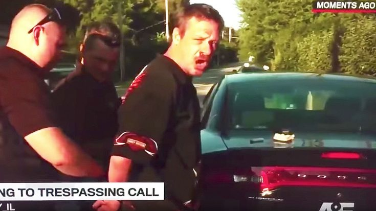 Man Gets Arrested On Live TV, And Hilariously Belts Out Pearl Jam's 'Even Flow' As Cops Take Him Away! | Society Of Rock Videos