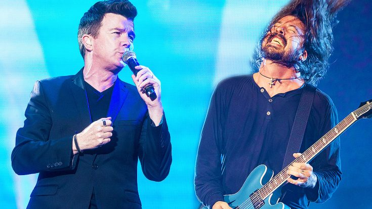 Rick Astley & The Foo Fighters' Unlikely Duet Turns Into The Greatest 'Rick Roll' of All Time! | Society Of Rock Videos