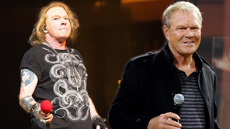 "Guns N' Roses Pay Tribute To Glen Campbell With Moving Performance Of ""Wichita Lineman"""