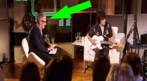 "Keep Your Eye On The Host When Jeff Beck Picks Up His Guitar And Starts Playing ""Little Wing"""