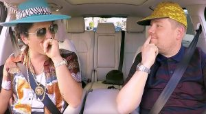 Bruno Mars And James Corden Hit The Road For Carpool Karaoke – This Ain't Your Mama's Mini Van!
