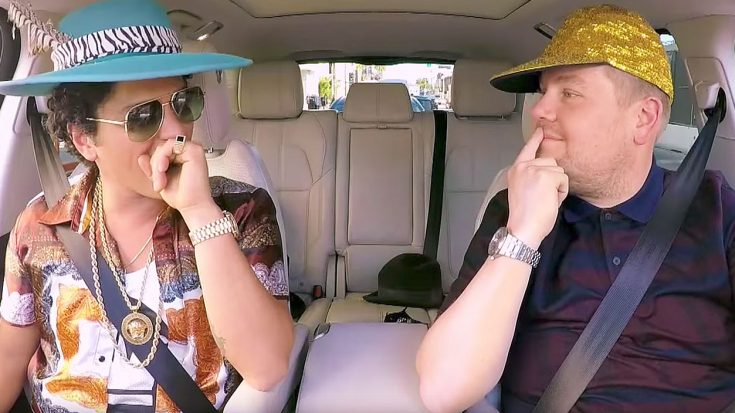 Bruno Mars And James Corden Hit The Road For Carpool Karaoke – This Ain't Your Mama's Mini Van! | Society Of Rock Videos