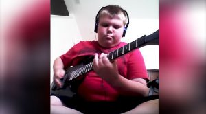 You May Not Expect This Kid To Be Heavy Metal Guitar Master – But Never Judge A Book By Its Cover