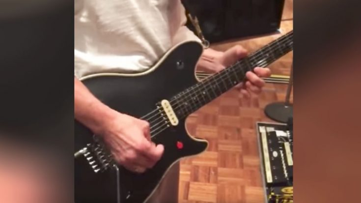 Eddie Van Halen Is Filmed Practicing In His Home And Well, It's Not Exactly… Good | Society Of Rock Videos