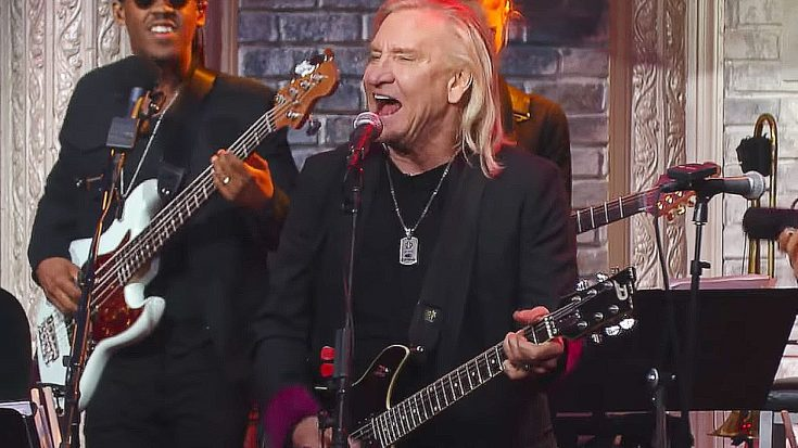 In Case You Missed It, Last Night Joe Walsh Crashed Late Night TV And Tore The Damn House Down | Society Of Rock Videos