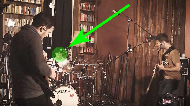 "Friends Come Together To Play ""Little Wing"", But Keep Your Eye On This Left-Handed Drummer 