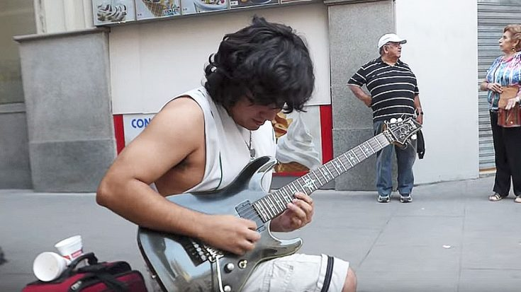 Street Performer Delivers The Goods With His Lightning Fast Shred Technique! | Society Of Rock Videos
