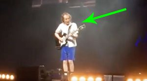 Camera Catches Angus Young's Latest Guitar Solo And It'll Melt Your Damn Face Off