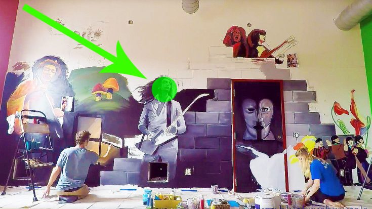 Kids Enshrine Classic Rock Legends On Giant Mural, & The Time-lapse Is Too Beautiful For Words! | Society Of Rock Videos