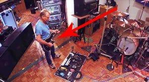 Footage Leaks Of Eddie Van Halen Shredding In His Home Studio, & It's Just Too Good For Words!