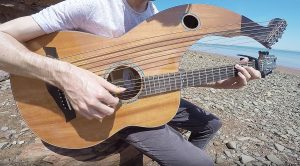 """Moody Blues' """"Nights In White Satin"""" On This Harp Guitar Requires Next Level Talent"""