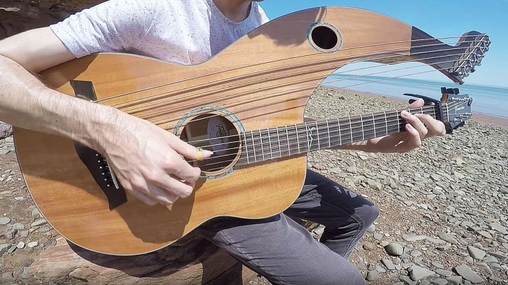"""He Uses A 'Harp-Guitar' To Cover Moody Blues' """"Nights In White Satin"""" And It's On A Whole Other Level"""