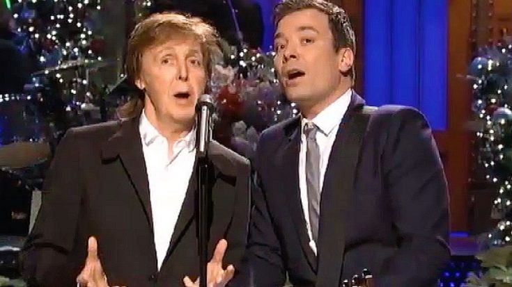 """Paul McCartney Recruits Old Friend Jimmy Fallon For Sugary Sweet Take On """"Wonderful Christmastime"""" 