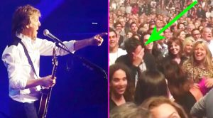 Paul McCartney Spots Celebrity Friend In The Crowd, & Stops His Show To Sing Them 'Birthday'!