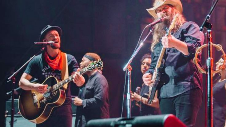 "We're A Little Drunk On Chris Stapleton And Justin Timberlake's Smoldering ""Tennessee Whiskey"" Duet 