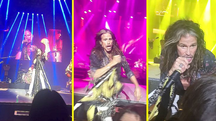 Steven Tyler Sees His #1 Fan In The Front Row – He Then Proceeds To Make Her Dream Come True | Society Of Rock Videos