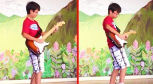 12-Year Old Channels Stevie Ray Vaughan At School Talent Show, & Steals The Show With Mind-Blowing Solo!