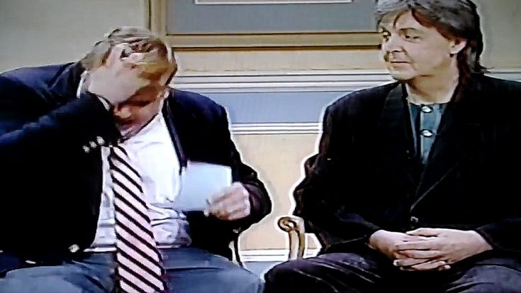 You Will Never Be As Deliciously Awkward As Chris Farley Was That Time He Interviewed Paul McCartney | Society Of Rock Videos
