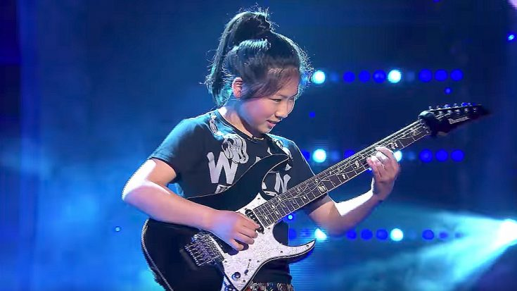 12-Year-Old Girl Showcases Her Shredding Abilities On Live TV And The Crowd Goes Wild! | Society Of Rock Videos