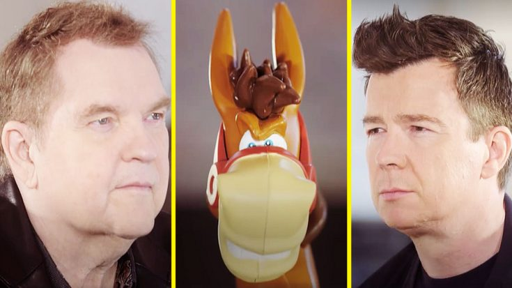 See Meat Loaf Go Face-To-Face With Rick Astley In The Fiercest Game Of 'Buckaroo' Ever! | Society Of Rock Videos