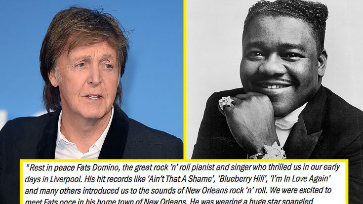 """Paul McCartney Pens An Emotional Letter To His """"Influence"""" Fats Domino… 