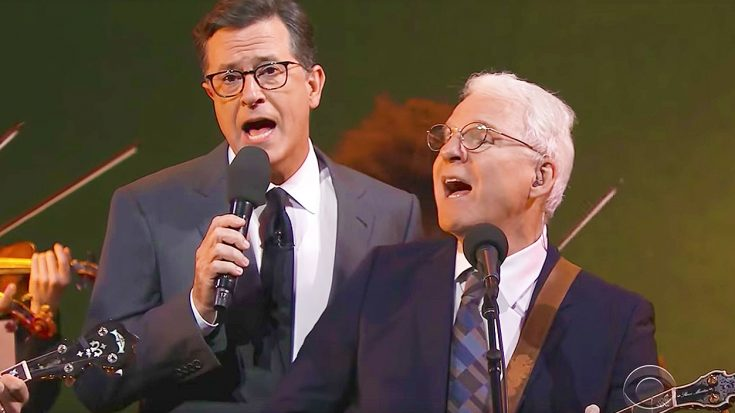 Steve Martin & Stephen Colbert Hit The Stage For Amazing Folk Duet That's Just Too Fun For Words! | Society Of Rock Videos