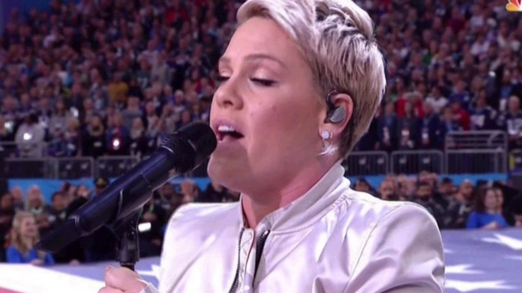Remember When P!nk Refused To Let The Flu Stop Her Super Bowl 'Star Spangled Banner' Performance? | Society Of Rock Videos