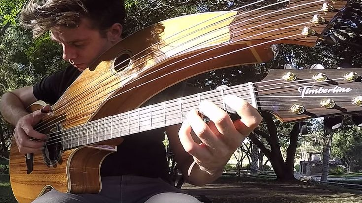 """Kansas' """"Dust In The Wind"""" Is Played On A 12-String Harp Guitar And It's Mesmerizing 