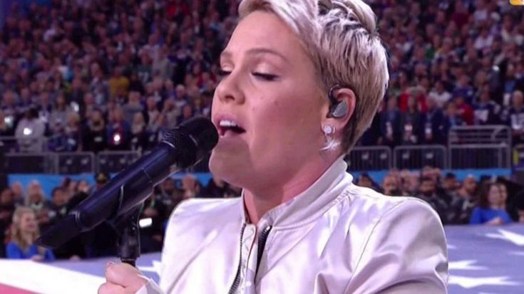 The Flu Didn't Stand A Chance Against Pink's Majestic Rendition Of 'The Star Spangled Banner' | Society Of Rock Videos