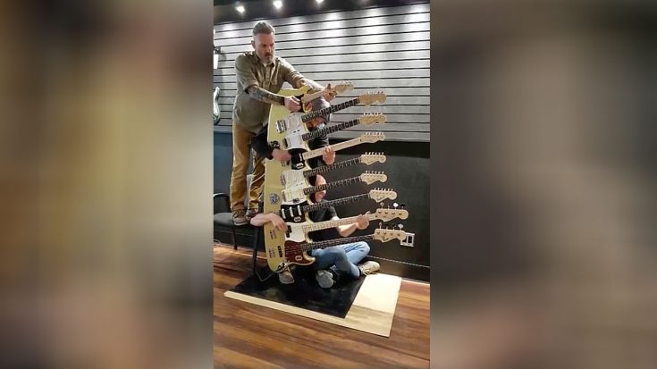 It Took Three Guys To Play This 9-Neck Guitar – Just Wait Until You Hear How It Sounds | Society Of Rock Videos